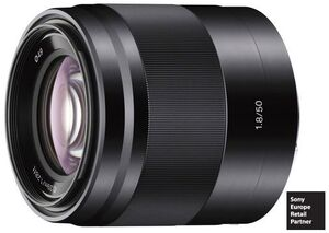 SONY E-Mount APSC 50mm F1.8 OSS Black SEL-50F18B