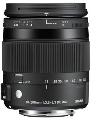 SIGMA 18-200mm/3,5-6,3 DC OS HSM CA con 885954