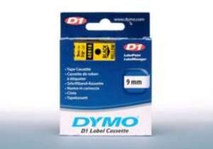 DYMO Schriftband D1, 9mm x 7m, Band: gelb 40918