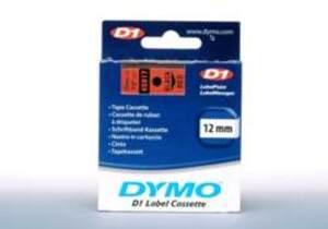 DYMO Schriftband D1, 12mm x 7m, Band: rot 45017