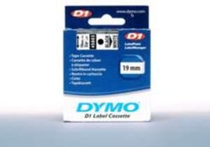 DYMO Schriftband D1, 19mm x 7m, Band: weiss 45803