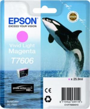 EPSON T7606 VIVID LIGHT MAGENTA C13T76064010