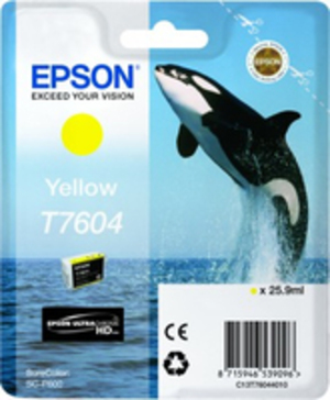 EPSON T7604 YELLOW C13T76044010