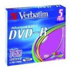 Verbatim DVD-R Medien 4.7GB,16x,5er Pack 43557