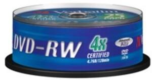 Verbatim DVD-RW 4.7GB, 25er Pack Spindel 43639