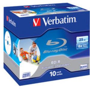 Verbatim BD-R 6x Single Layer 25GB 10-Pck. 43713