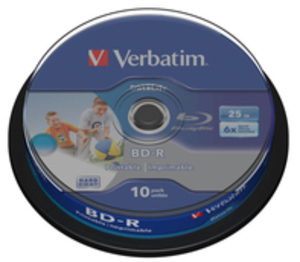 Verbatim BD-R 6x Single Layer 25GB 10-Spind 43804