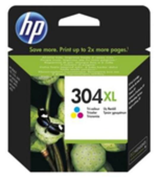 HP 304XL DRUCKPATRONE DREIFARBIG (300 SEITEN), Kapazität: 300 S. N9K07AE