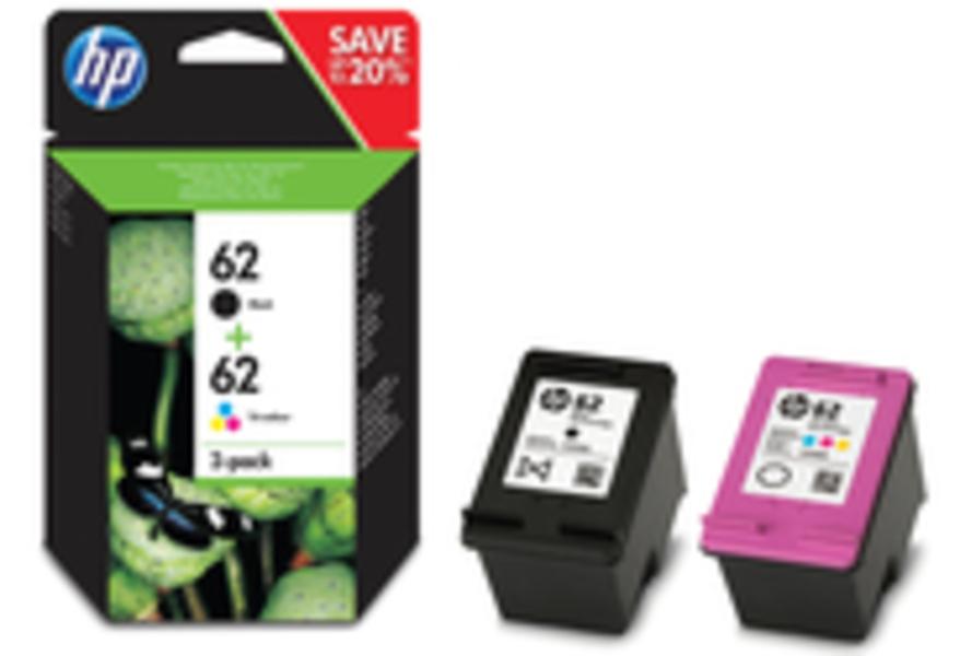 HP 62 Tinten Combo 2-Pack (schwarz/dreifarbig) N9J71AE