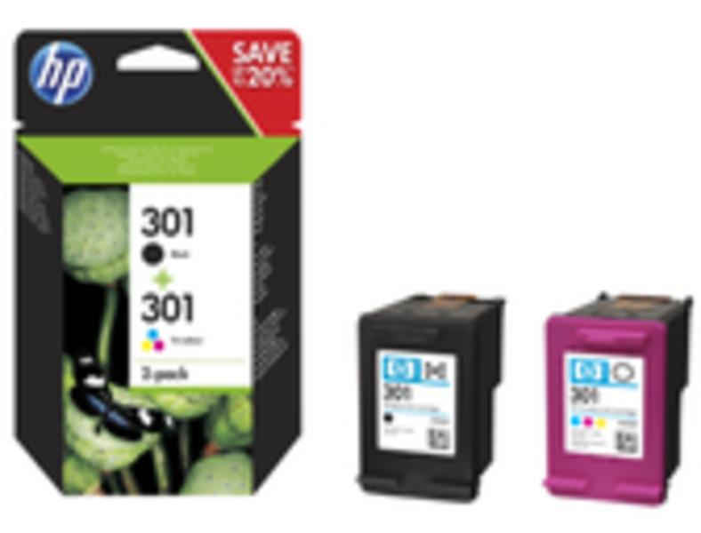 HP 301 Tinten Combo 2-Pack (schwarz/dreifarbig) N9J72AE