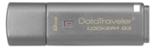 Kingston Data Traveler Locker+ G3/8GB USB 3.0 DTLPG38GB