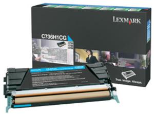 Lexmark Toner-Modul HY return cyan C736H1CG