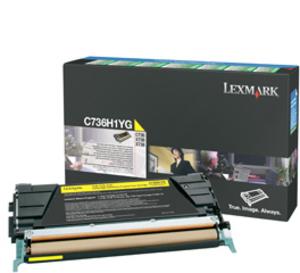 Lexmark Toner-Modul HY return yellow C736H1YG