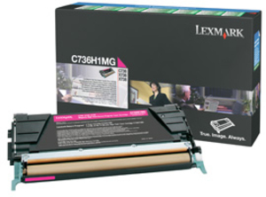 Lexmark Toner-Modul HY return magenta C736H1MG