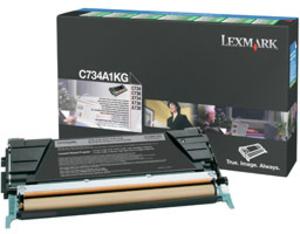 Lexmark Toner-Modul return schwarz C734A1KG