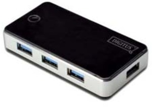 DIGITUS USB 3.0 Hub, 4-port schwarz DA70231