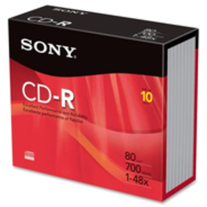 SONY CD-R, 48X, 700MB 10CDQ80PS