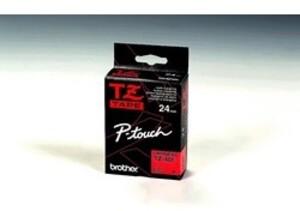 Brother PTOUCH Band, laminiert schwarz/rot TZ451