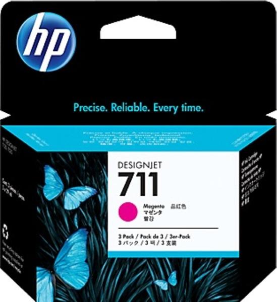 HP Ink Cart/711 3-pack 29-ml Magenta CZ135A