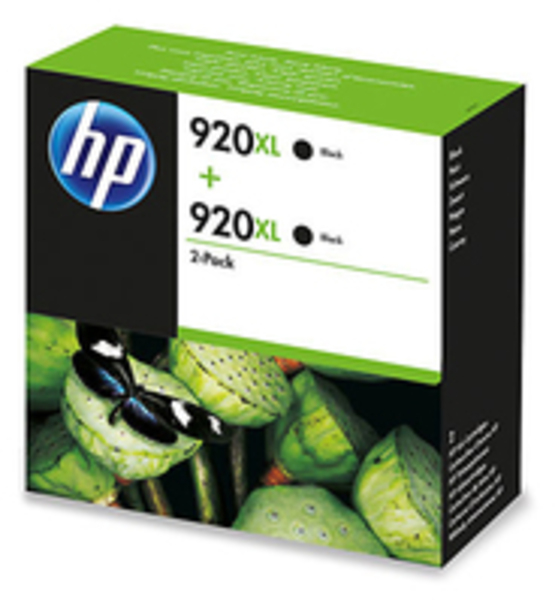 HP Tinte 920XL 2-Pack Eco Box schwarz 2x D8J47AE