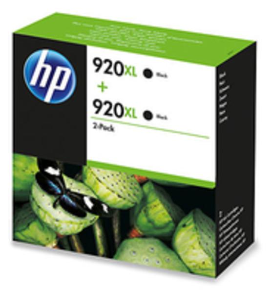 HP Tinte 920XL 2-Pack Eco Box schwarz 2x D8J47AE