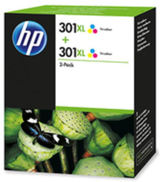 HP INK CARTRIDGE NO 301 XL C/M/Y D8J46AE