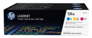 HP 131A Original Tonerkartusche cyan, magenta und gelb Standardkapazität 3 x 1.800 Seiten 3er-Pack U0SL1AM