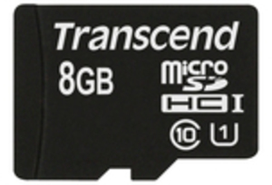 Transcend 8GB MICROSDHC CLASS 10 UHS-I TS8GUSDCU1