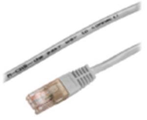 M-CAB CAT5e-U/UTP-PVC-1.00M-GRY 3123