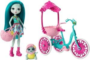 ENCHANTIMALS Taylee Turtle Puppe und Fahrrad FCC65