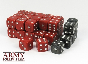The Army Painter Army Painter - Wargaming Dice: Red/Black (36), 14mm ARM05018