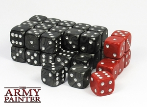 The Army Painter Army Painter - Wargaming Dice: Black/Red (36), 14mm ARM05019
