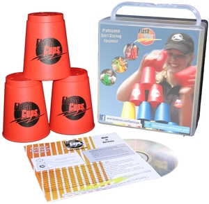 FlashCups Speed Stacking: (12 Stk., rot) mit Lunchbox+DVD FLA01002