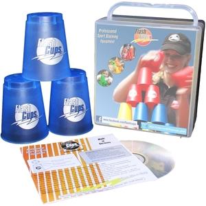 FlashCups Speed Stacking: (12 Stk., Iceblue)mit Lunchbox+DVD FLA01011