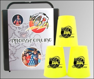 FlashCups Speed Stacking: (12Stk. Neongelb) mit Lunchbox+DVD FLA01014