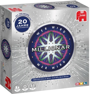 Jumbo Wer wird Millionär 20 J, d 20 Jahre Jubiläumsedition, ab 12 Jahren, 2-5 Spieler 60919736