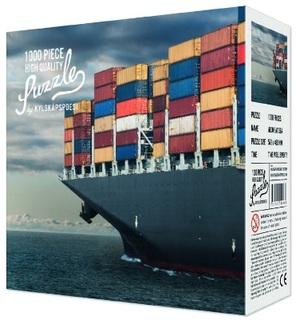 Kylskapspoesi High Quality Puzzle Allein auf See - Containerschiff (1000 Teile) KYL00488
