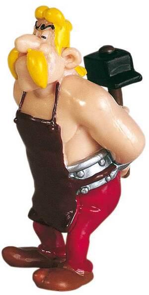 PLASTOY Asterix: Figur Automatix mit Vorschlaghammer PLA60507