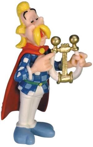 PLASTOY Asterix: Figur Troubadix mit Leier PLA60548