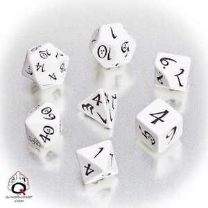 Q-Workshop Classic RPG Dice White/Black (7) QWOCLE02