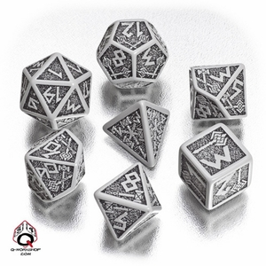 Q-Workshop Dwarven Dice Gray/Black (7) QWODWA12