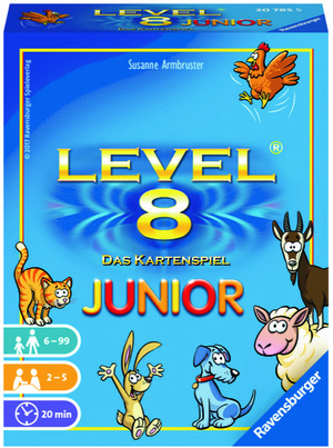 Ravensburger Level 8 Junior, d ab 6 Jahren, 2-5 Spieler, Spieldauer ca. 20 Min. 60520785