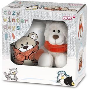 Nici Nici WinterGeschenk-Set Bär 15 cm mit Tasse 39929