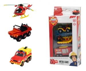 Dickie Spielzeug Feuerwehrmann Sam Fahrzeug 3er Pack, 2 Kombinationen mögliche 203099629