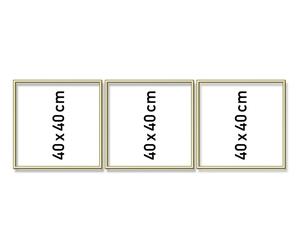 SCHIPPER Arts & Crafts Malen nach Zahlen - Alurahmen Tripty. Gold 120 x 40 cm 605150706