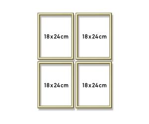 SCHIPPER Arts & Crafts Malen nach Zahlen - Alurahmen Quattro Gold 18 x 24 cm 605170704