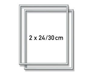 SCHIPPER Arts & Crafts Malen nach Zahlen - 2 x Alurahmen Silber 24 x 30 cm 605220771
