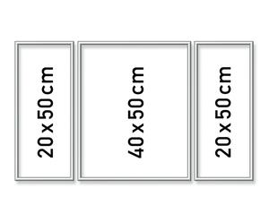 SCHIPPER Arts & Crafts Malen nach Zahlen - Alurahmen Tripty. Silber 50x80 cm 605260767