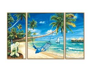 SCHIPPER Arts & Crafts Malen nach Zahlen - Südseeträume (Triptychon) 609260693