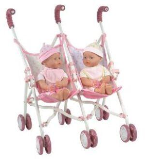 Baby Born My litte Baby born Freche Zwillinge, Set enthält 2 Puppen und einen Zwillingspuppenwagen 10808948
